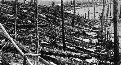Обстоятельства катастрофы тунгусского метеорита