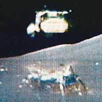 Старт «Аполлона-17» с Луны (кадр из телепередачи)