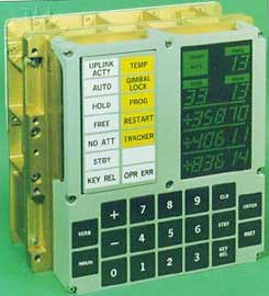 Панель управления и индикации компьютера, установленного на лунном модуле