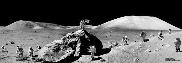 «Геологическая экспедиция на Луне». Шутка Дэвида Харланда.
