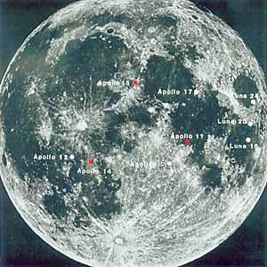 Карта мест посадок