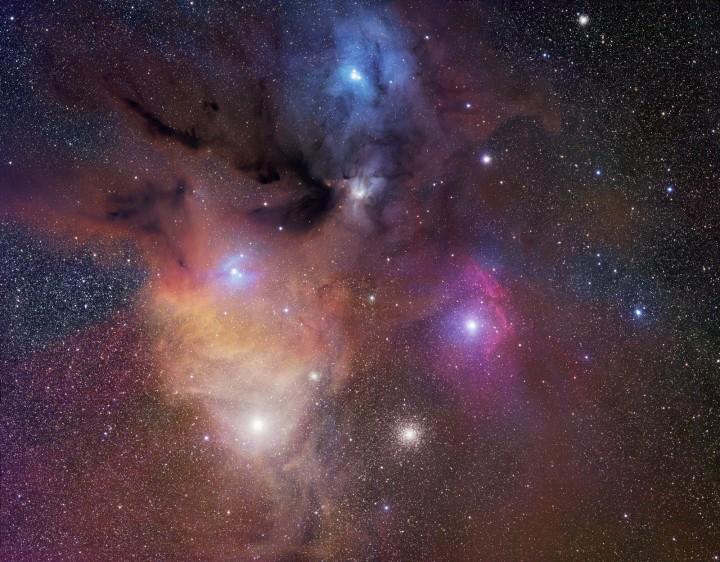 Разноцветные облака около Ро Змееносца