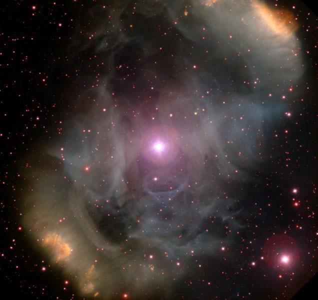 NGC 6164: биполярная эмиссионная туманность