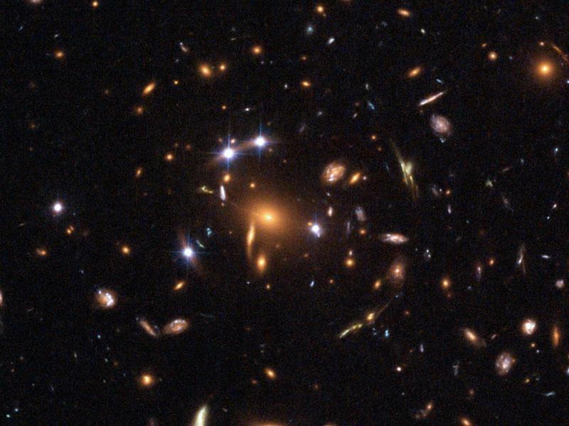 Пять квазаров в гравитационной линзе