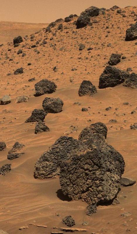 """Вулканический """"Шишковатый валун"""" на Марсе"""
