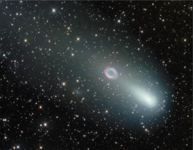 Встреча кометы с туманностью Кольцо: часть II