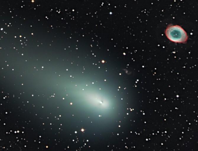 Встреча кометы с туманностью Кольцо: часть I