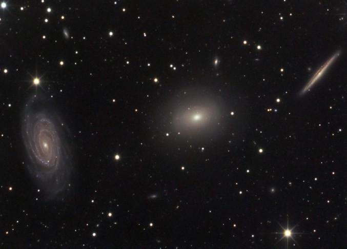 Три галактики в созвездии Дракона