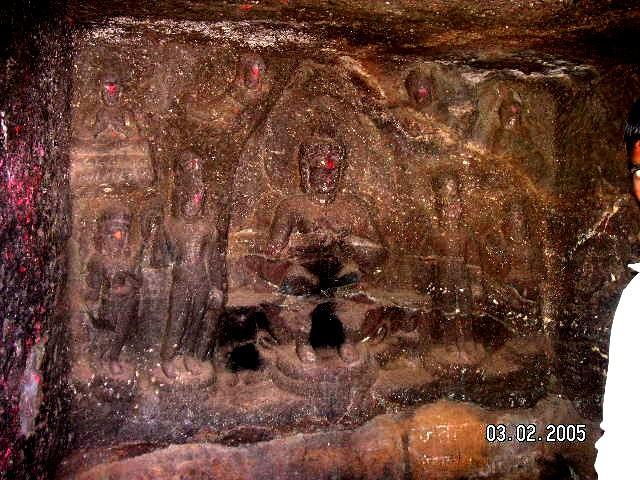 Пещеры Карла рядом с Лонавла в Махараштре, Индии