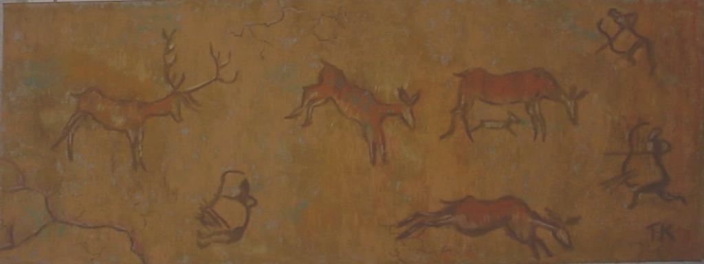 Неолитические изображения Рогатого скота в эль Куантара Магхарет - Так назваемой