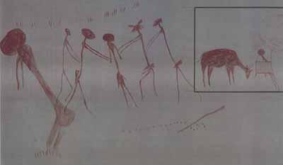 Танзания, мужчины окружают женщину