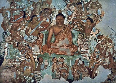 Изображение Будды из древнего индийского храма