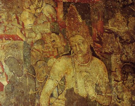 Настенная роспись из первой пещеры Аянты