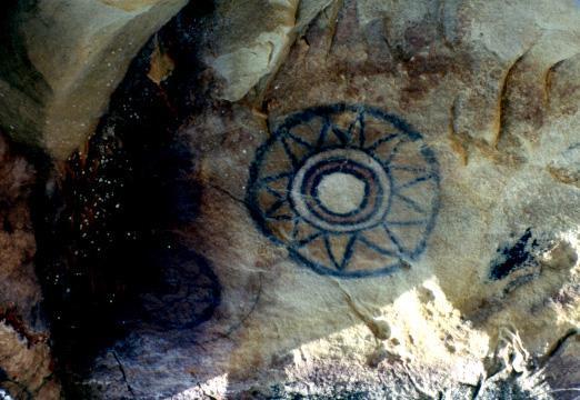 Изображение Солнца. Пещера Сан-Антонио