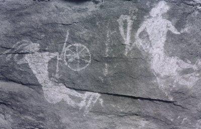 Сражение. Доисторический петроглиф