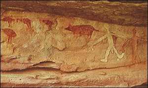Древнейший наскальный рисунок!