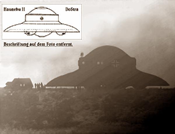 Сравнение НЛО с чёртежом корабля Хаунебу II